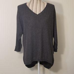 [Express] grey back zipper sweater